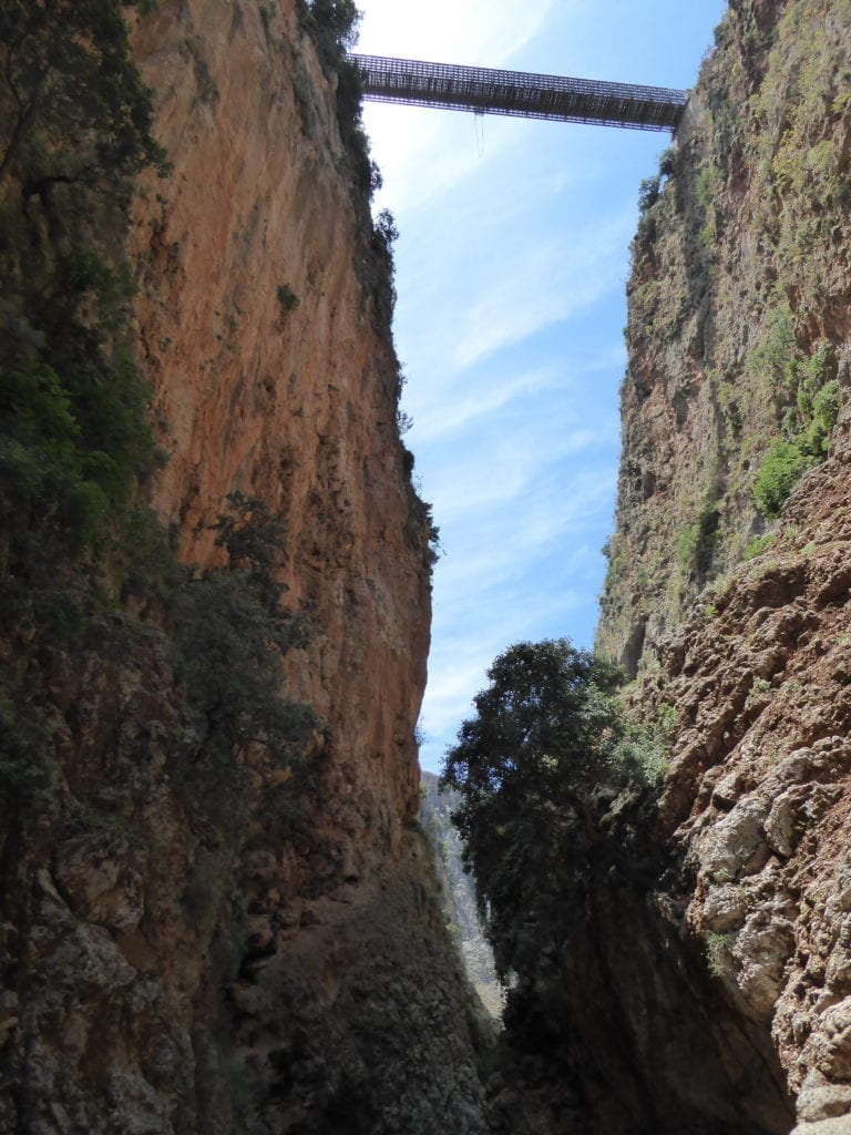 A must in the  ten things to do in Crete is a gorge - here the Aradhena