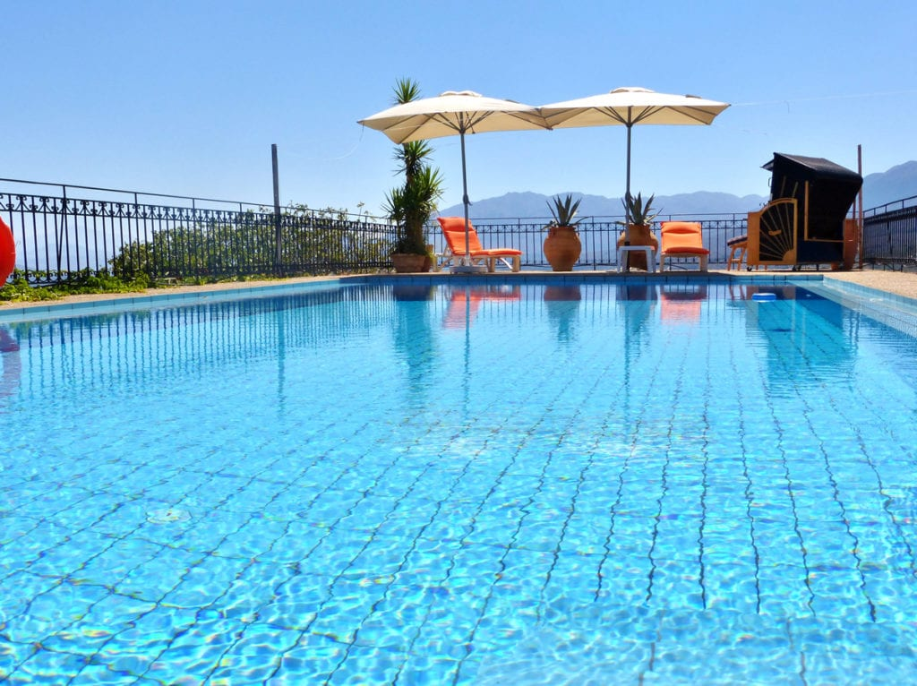Sparkling blue waters of the Panokosmos pool - truly a holiday in the heart of Crete!