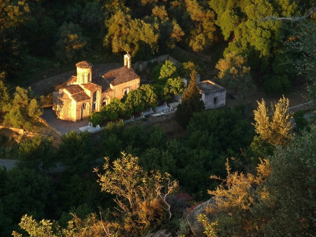 Agios Nicolaos church in morning sunshine