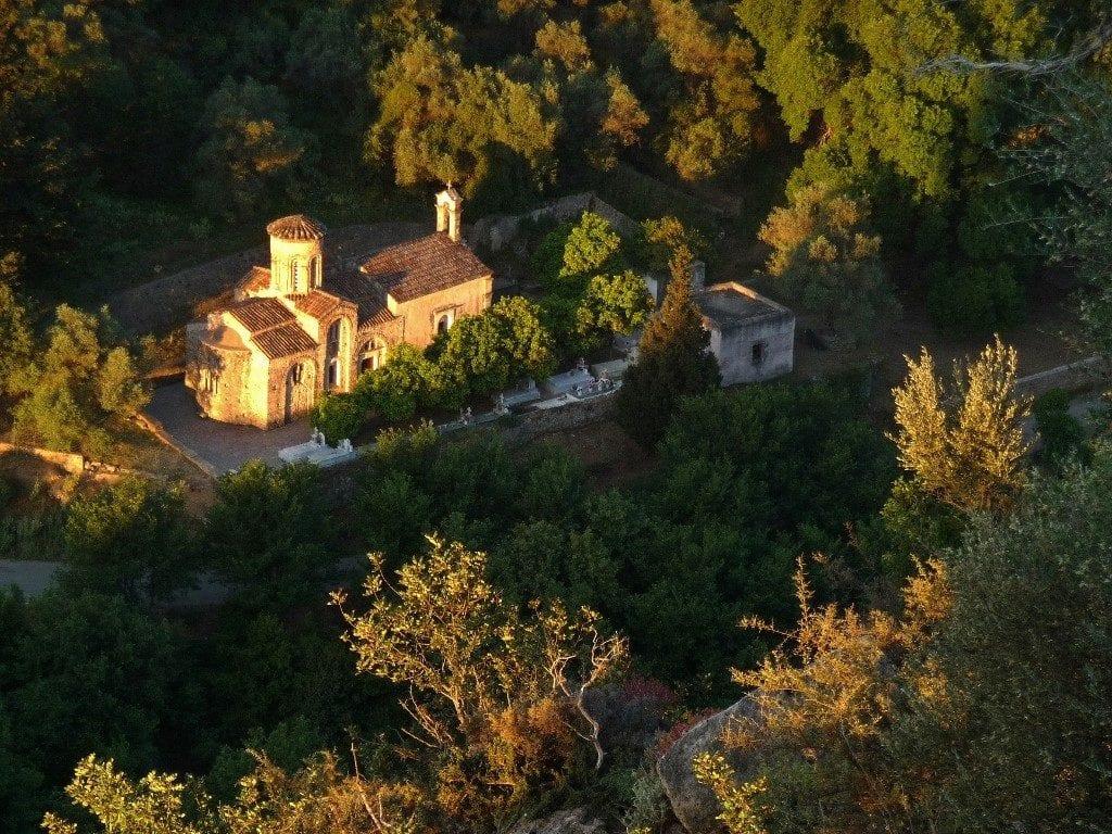 Agios Nicolaos church in morning sunshine