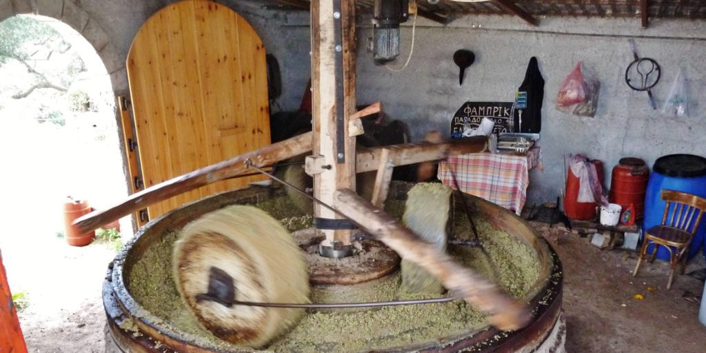 Stone ground Cretan olive oil