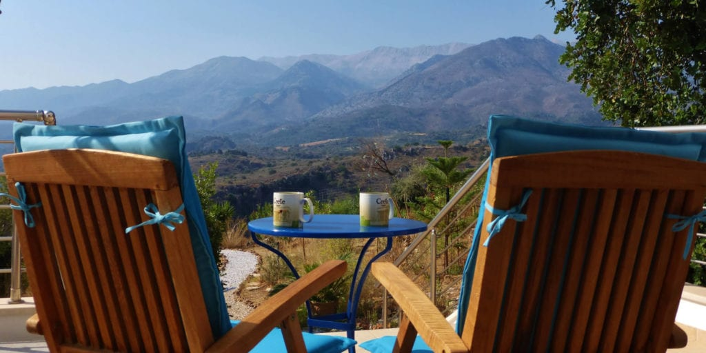 View of the White Mountains from Panookosmos kitchen terrace
