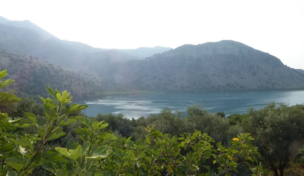 Lake Kournas is peaceful and beautiful, one aspect of the great variety of scenery in Crete