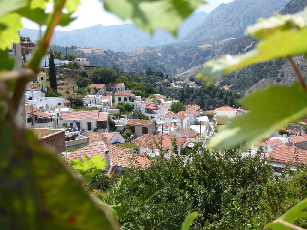 Argiroupoli village between the leaves