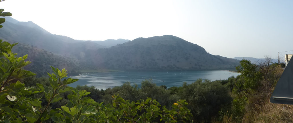 Lake Kournas, next stop on the drive from Panokosmos