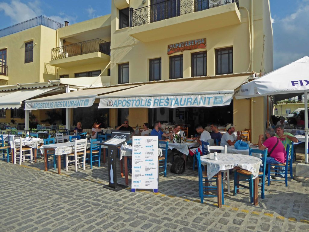 Apostolis, great fish restaurant on the edge of the harbour