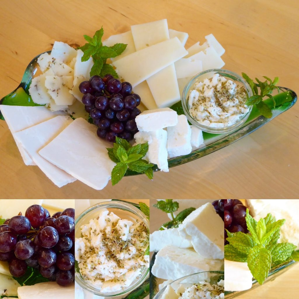 Cretan cheeses, herbs and grapes, key parts of the Cretan diet