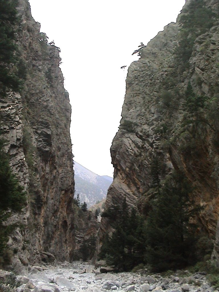 Samaria - a long hike down the gorge