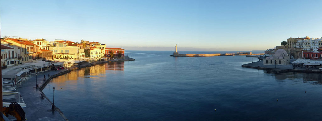 Chania harbour front