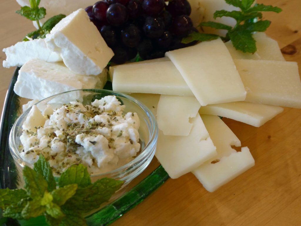 Feta and Graviera - part of the Cretan diet