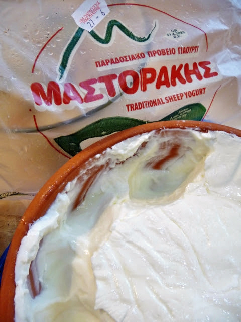 One of Mastorakis contributions to the Cretan diet: sheeps milk yoghurt