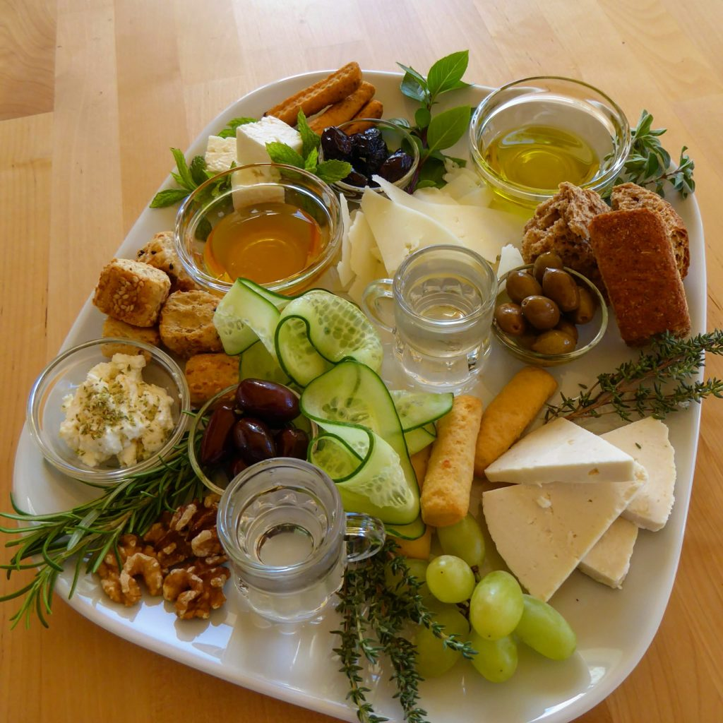 Cretan Impressions - tastes of Crete all on one plate - part of a holiday in the heart of Crete