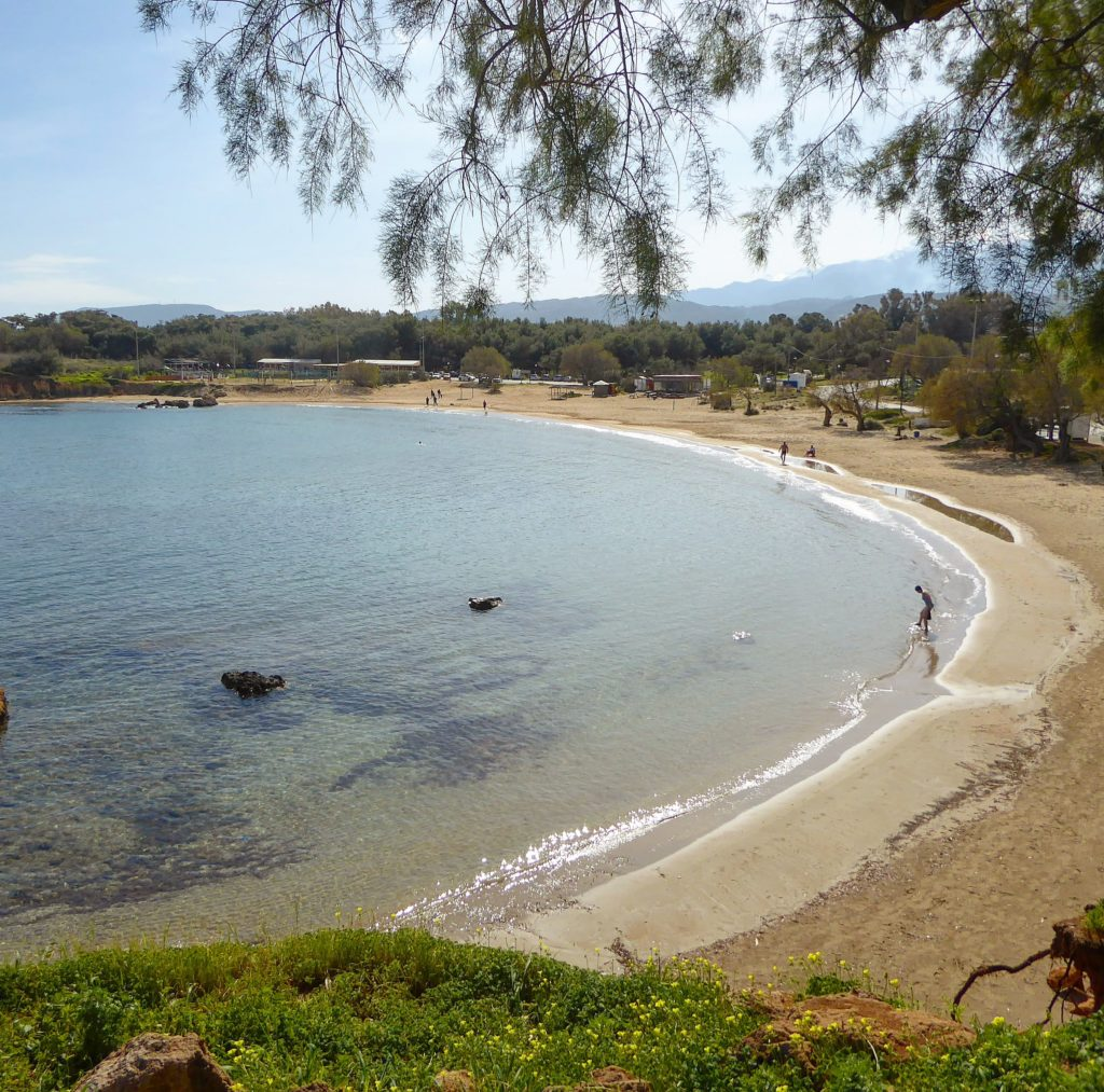 Deserted beach on the Akrotiri - is this part of a holiday in the heart of Crete?