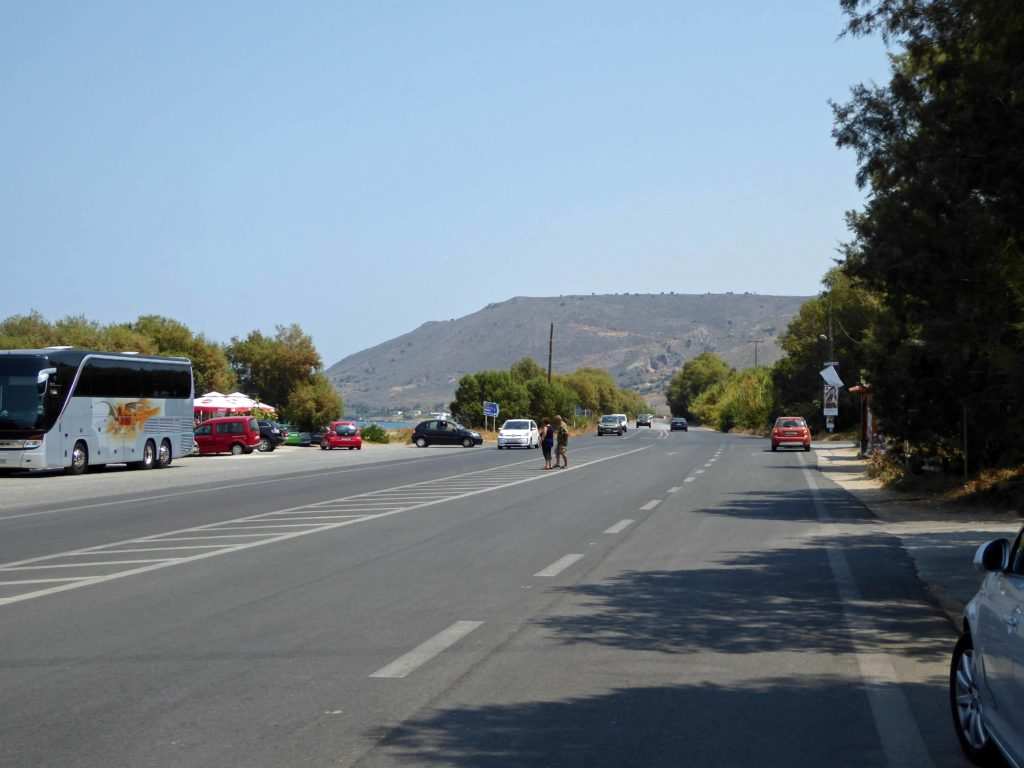 Ethniki - the National road - essential for driving a hire car in Crete