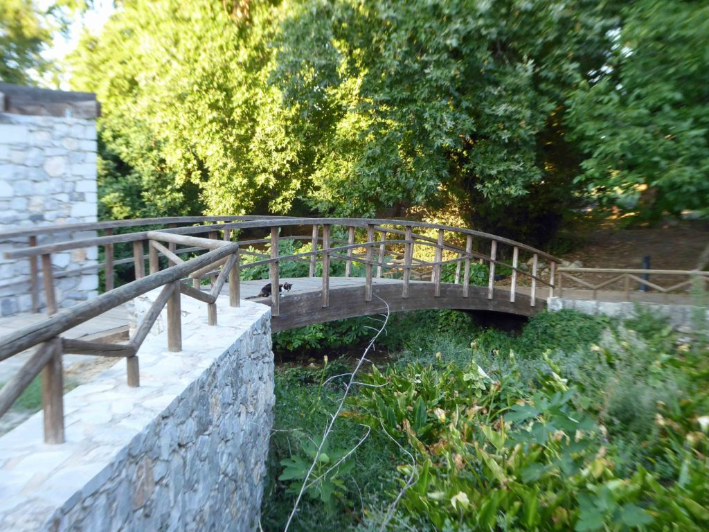 Koliaris river flows thru the park