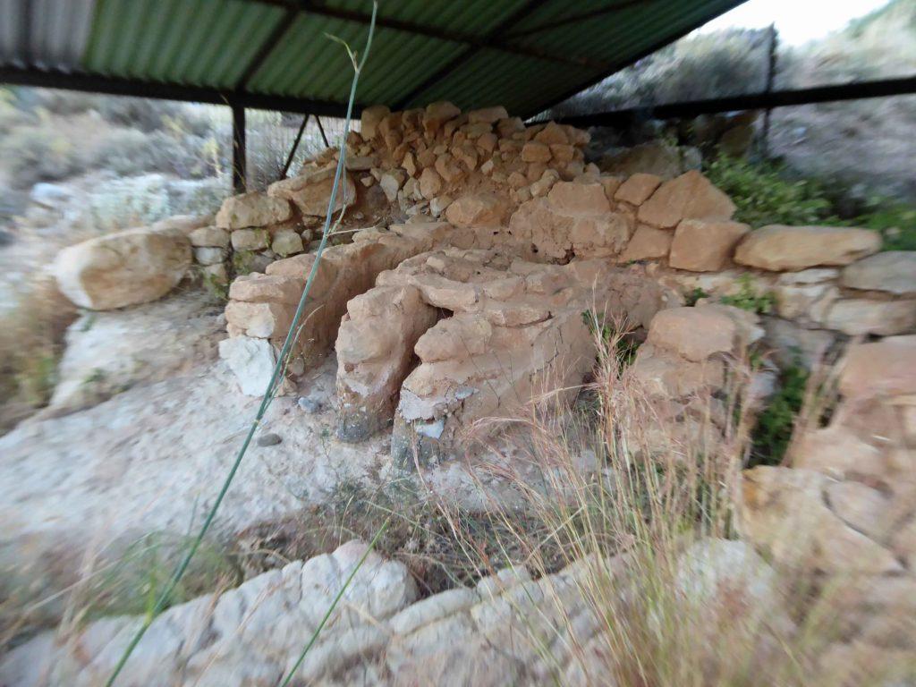 Minoan kiln in the ruined settlement
