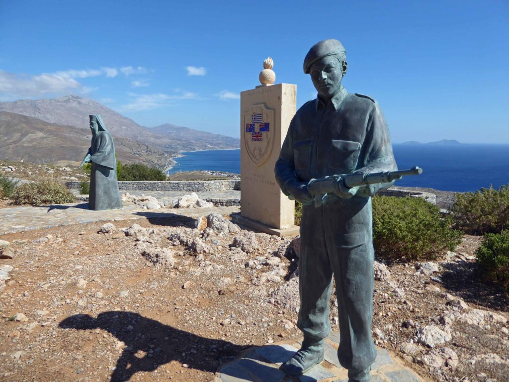 Memorial paid for by the Australian Government, honouring the monks of Preveli Monastery