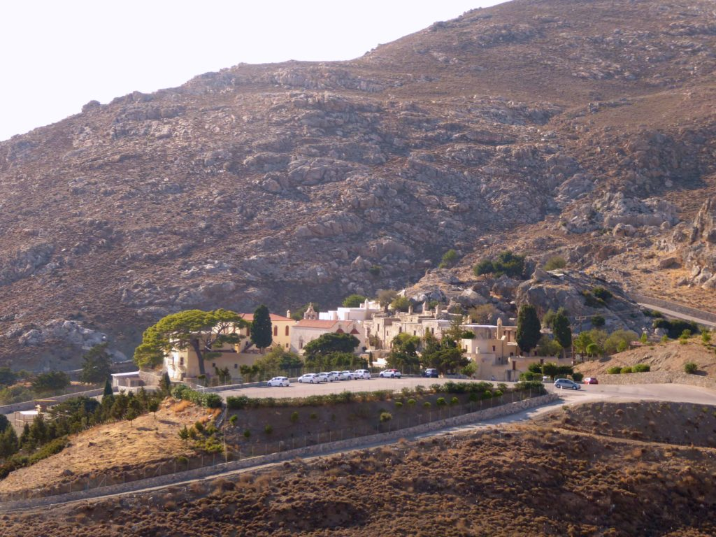 The jewel of the Preveli monsastery Drive: the  Monastery
