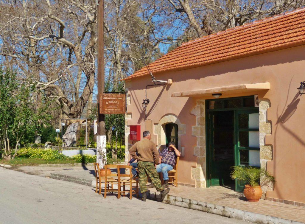 Discover Pissas taverna in a Cretan village