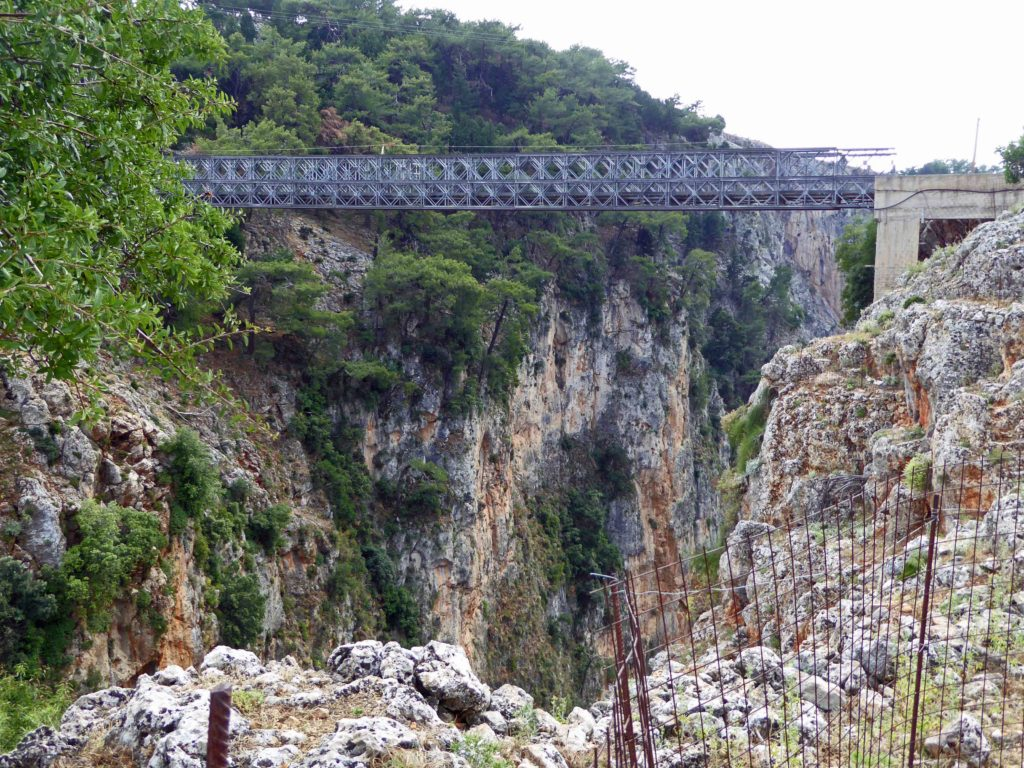 Bridge over the Aradhena gorge