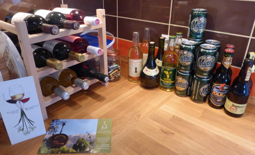 Beers and wines in Crete