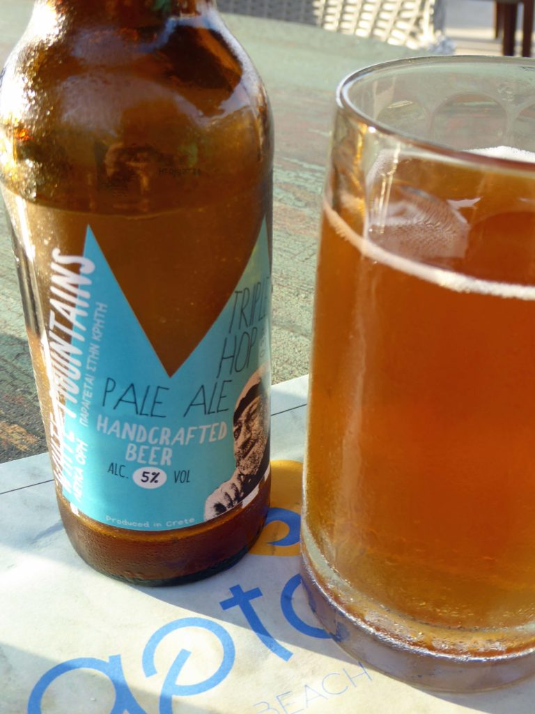 White Mountains ale at Aptera beach resort - all part of beers in Crete