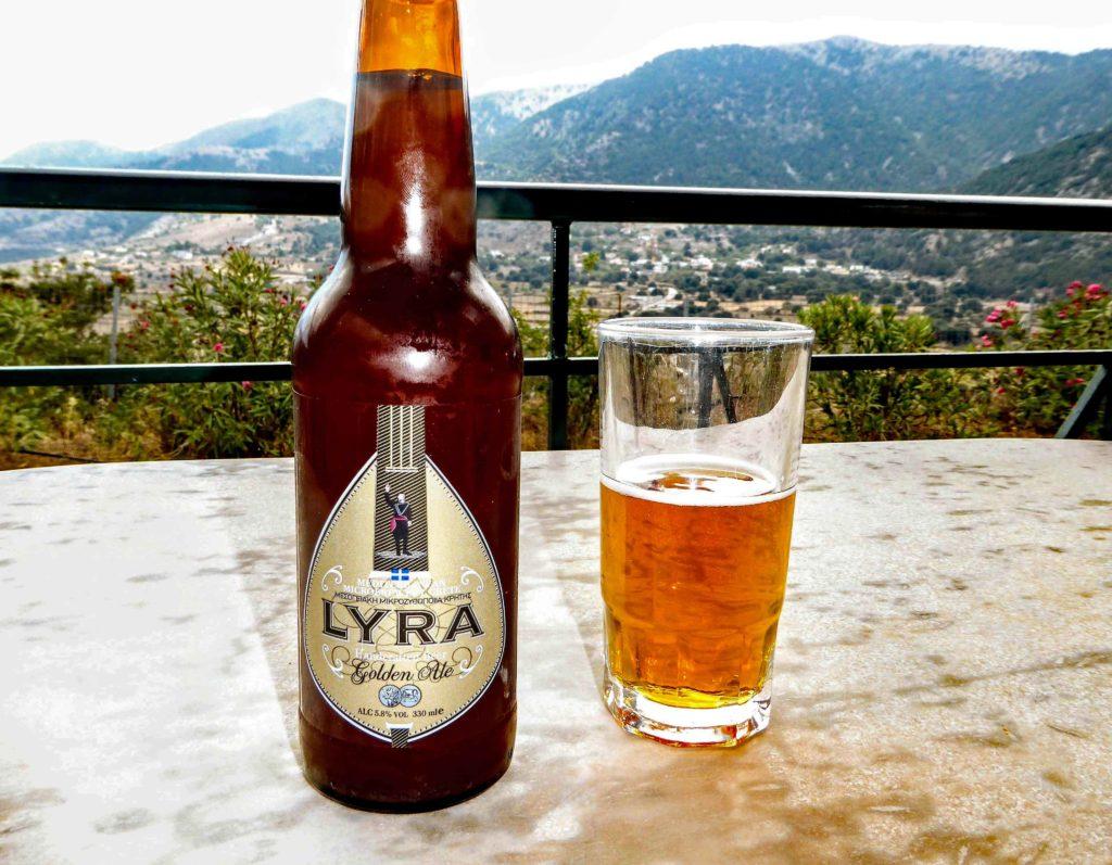 Lyra beer, on the Askifou plain