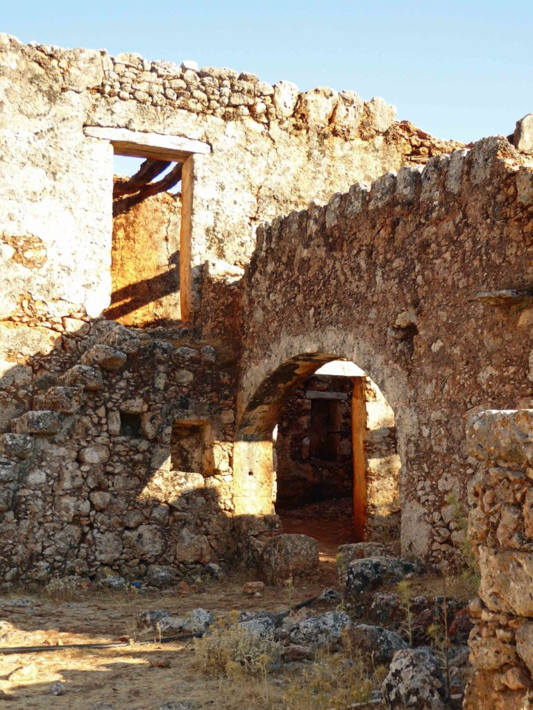 Ruined arch in village house